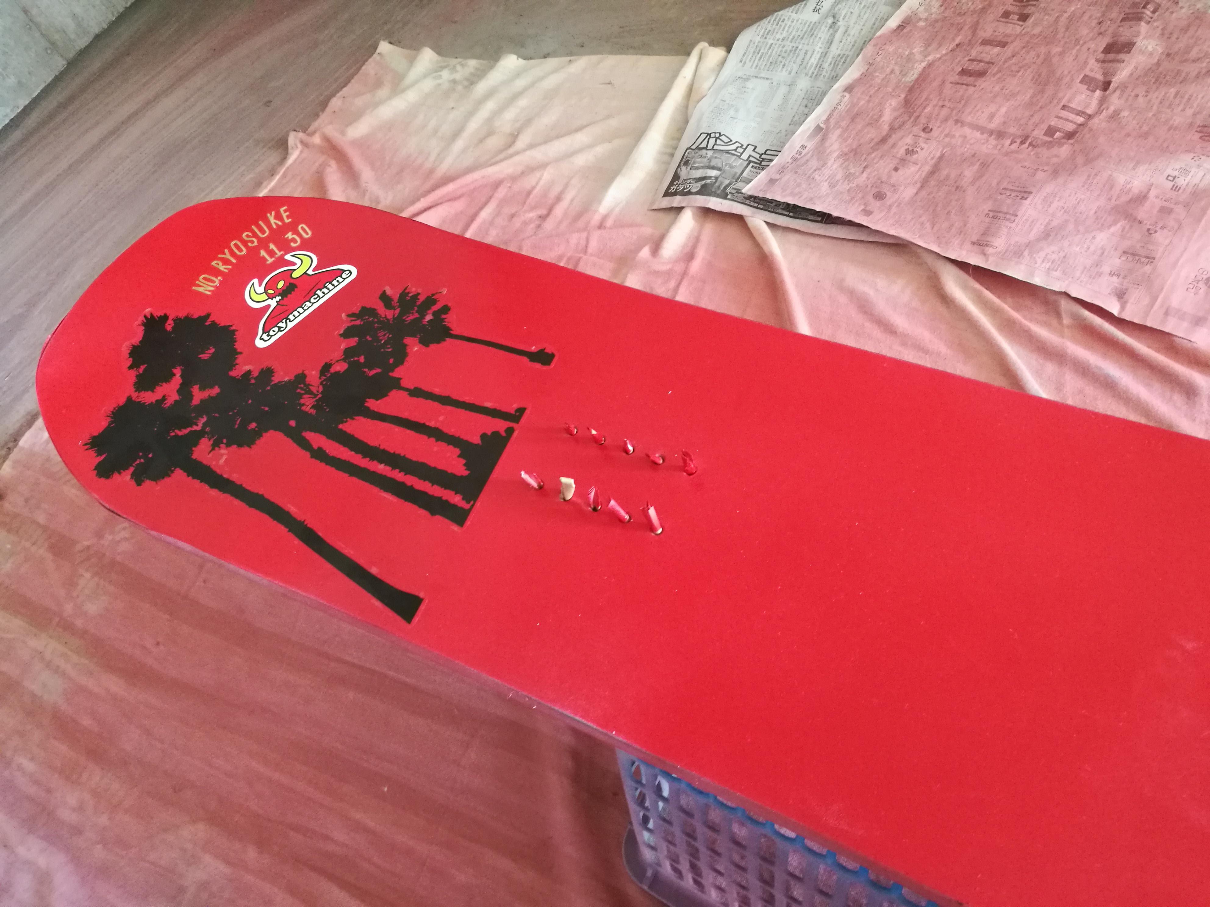 スノーボード自家塗装DIY