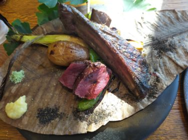 【白老】アイヌ飯!!ウポポイのレストランの飯うめー(鹿肉と鮭)